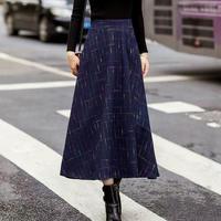 Aライン ロングスカート フレア casual 秋冬ファッション 2色