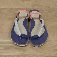 OTZ-Diana Linen / Navy Natural Coral / 23.7cm