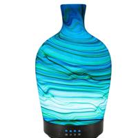 加湿器 100ml 空気清浄機  超音波 ディフューザ アロマ  7色LED 壺型 乾燥・肌荒れ・風邪・花粉症予防 オフィス インテリア