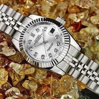 高級腕時計 SANGDO デイトジャスト 高級ブランドオマージュモデル 人気のコンビカラー ハイエンドタイプ シルバー