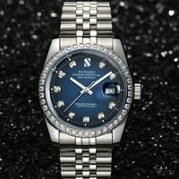 高級腕時計 SANGDO デイトジャスト 高級ブランドオマージュモデル 人気のコンビカラー ハイエンドタイプ シルバー ブルー オマージュ