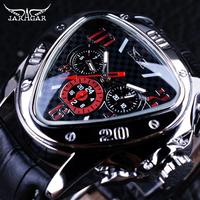 Jaragar ジャガー メンズ 腕時計 高級 レザー ベルト 通販 機械式 三角 トップブランド