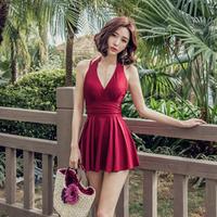 水着 ワンピース レディースファッション  セクシー  韓国 柄 かわいい  ブラック レッド ワイン 格安  2019モデル