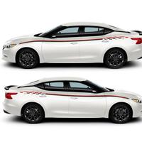 ステッカー デカール 日産日マキシマ NISSAN 外装 サイドボディ 自動車 カーアクセサリー ホワイト ブラック レッド