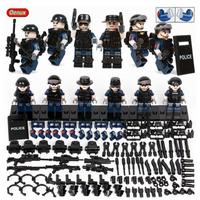 LEGO レゴ 互換 SWAT 警察 特殊部隊 POLICE カスタム ミニフィグ 6体セット 大量武器・装備・兵器付き