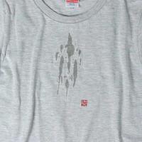 飲みこぼし風Tシャツ レディース