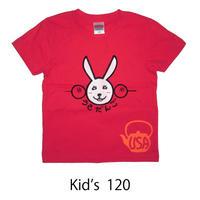 うさだんごTシャツ キッズ2 フレンチレッド