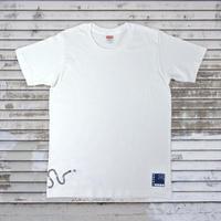 オキナワノ チンアナゴTシャツ 白 メンズ