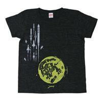 月基地からロケットTシャツヘザーブラック レディース
