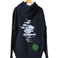 水深別お魚パーカー ネイビー(レターパックプラス発送)