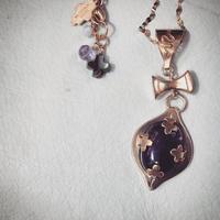 GATTO di MANO TERZO OCCHIO fluorite necklace
