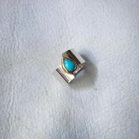 SENZA SLIT RING :sleeping beauty :silver