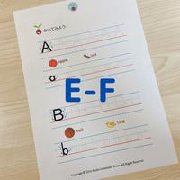 フォニックスワークシート(E-F)
