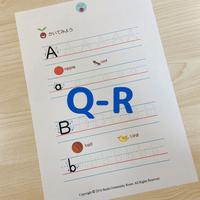フォニックスワークシート(Q-R)