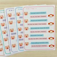会話練習カード「質問」 (No.1-30)