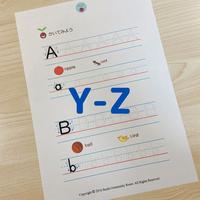 フォニックスワークシート(Y-Z)