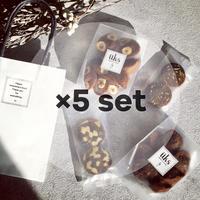 5点 まとめ買い【バレンタイン焼菓子ギフトバッグ】ペーパーバッグ M フィナンシェ2種、クッキー2種