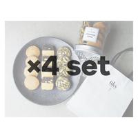 《4セット》ホワイトデー限定【ホワイトデー仕様ラッピング】円筒容器入りクッキー12個入り(3種類×4個)