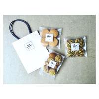 üks【ホワイトデー焼菓子ギフトバッグ】ペーパーバッグ M フィナンシェ1種、クッキー2種