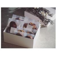üks【バレンタイン焼菓子ギフトボックス】スクエア(M)フィナンシェ3種、クッキー2種