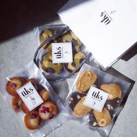 üks【ホワイトデー焼菓子ギフトバッグ】ペーパーバッグ (M) フィナンシェ1種、クッキー2種