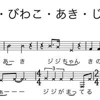 てきとう・びわこ・あき・じじちゃん    メロディー譜