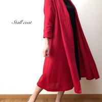 リネンのストールコート(赤)