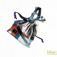 Hand print Drawstring bag (S)blue
