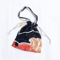 Hand print Drawstring bag03 (M)