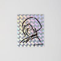 """Sticker """"Girl"""" Hologram"""