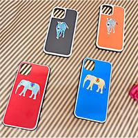 シマウマのアスリー・ゾウのラブリー 背面ガラスケース  iphone用