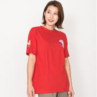 リラックスコアのTシャツ レッド