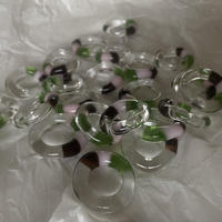 gaho  glass ring /  clear brown pink green  13号-18号