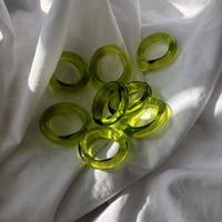 yellow  green glass ring 10号-12号