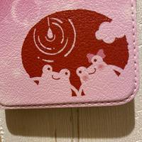 恋するスマホケース【iPhone】名入れOK♡カエルのカップル/スマホケース手帳型・手帳型スマホカバーiPhone11/iPhone11Pro対応!