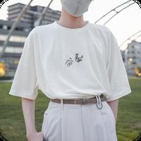 危ないよゆるっぺくん!カタツムリくんから逃げろTシャツ Ivory / Mens