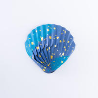 紙の貝殻椀 刷毛石箔シリーズ