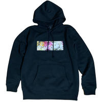 floral box pullover (black)