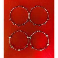 silver hoop Pierce  1