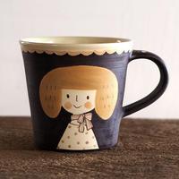 増永 典子 女の子マグカップ 茶 1