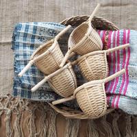 竹製 茶漉し ラオス