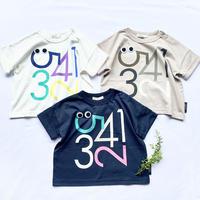 CLOUDY, FINE LATER ゆるめシルエットすうじ Tシャツ 522-159022