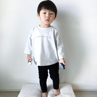 CLOUDY, FINE LATER 7分袖丈ゆるめシルエット刺繍Tシャツ 522-154010