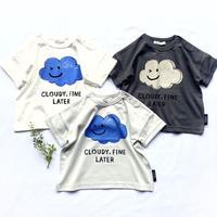 CLOUDY, FINE LATER ゆるめシルエットくも Tシャツ 522-159021