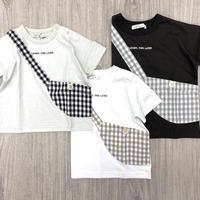 CLOUDY,FINE LATER サコッシュ付きTシャツ 522-067004
