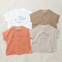 CLOUDY, FINE LATER キョウリュウ刺繍ドロップTシャツ 522-164004