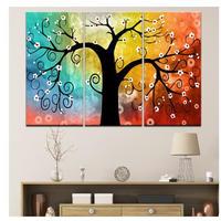 海外輸入 パネルアート -Colorful Trees Canvas Art- インテリア 絵画 壁掛 タペストリ