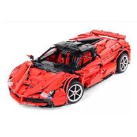 レゴ互換 テクニック フェラーリレッド ブロック LEGO互換品 おもちゃ プレゼント
