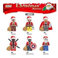 レゴ互換 ミニフィグ クリスマス サンタクロース 6体セット LEGO互換品 クリスマス プレゼント