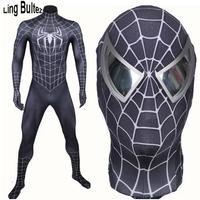 ハイクオリティ MARVEL マーベル ブラックスパイダーマン フルセット マスク 3D コスプレ コスチューム ハロウィン 衣装 映画